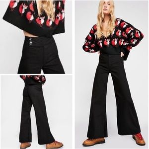 Free People Youthquake Bell Bottoms Black